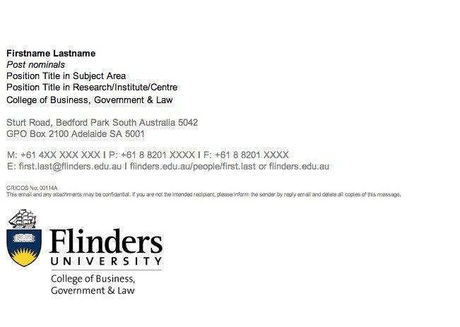 Grad Student Email Signature Guidelines Flinders University