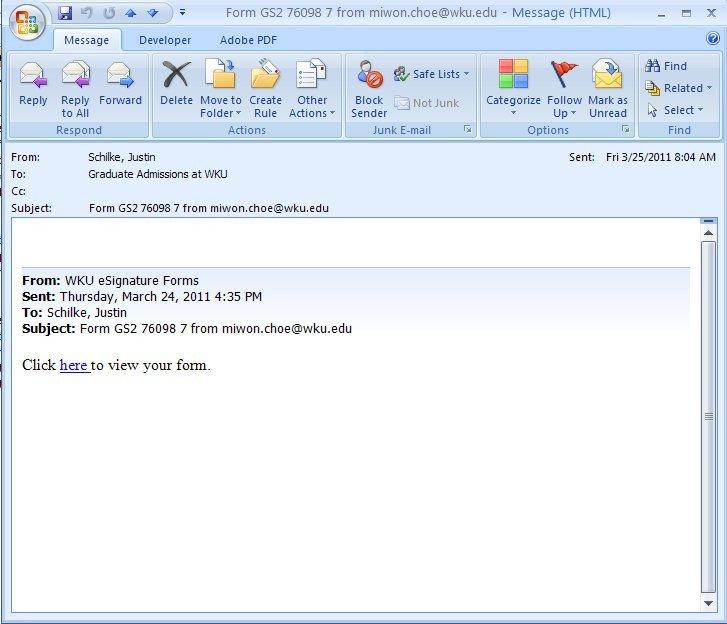Grad Student Email Signature the Graduate School Esignature forms