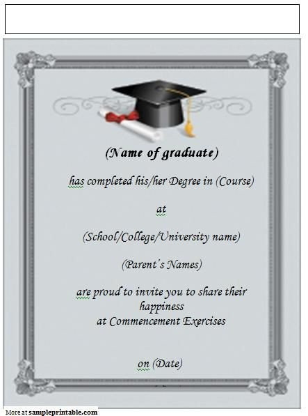 Graduation Invitation Templates Microsoft Word 22 Best Grad Announcements Images On Pinterest