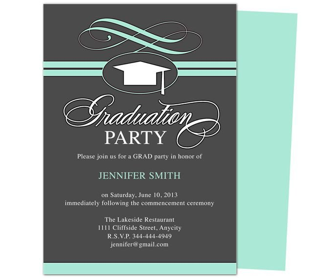 Graduation Party Invitation Template 46 Best Printable Diy Graduation Announcements Templates