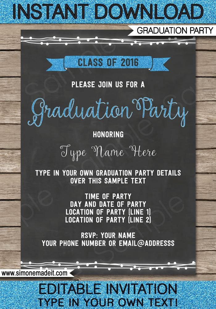 Graduation Party Invitation Template Best 25 Graduation Invitation Templates Ideas On