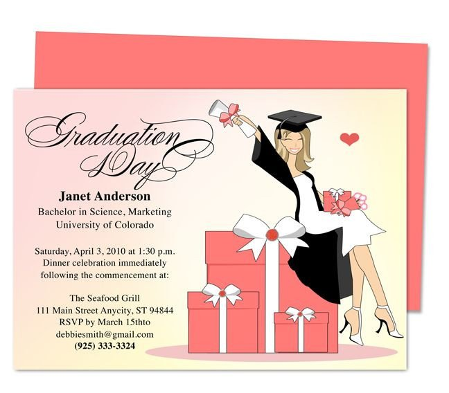 Graduation Party Invitation Template Best 46 Printable Diy Graduation Announcements Templates