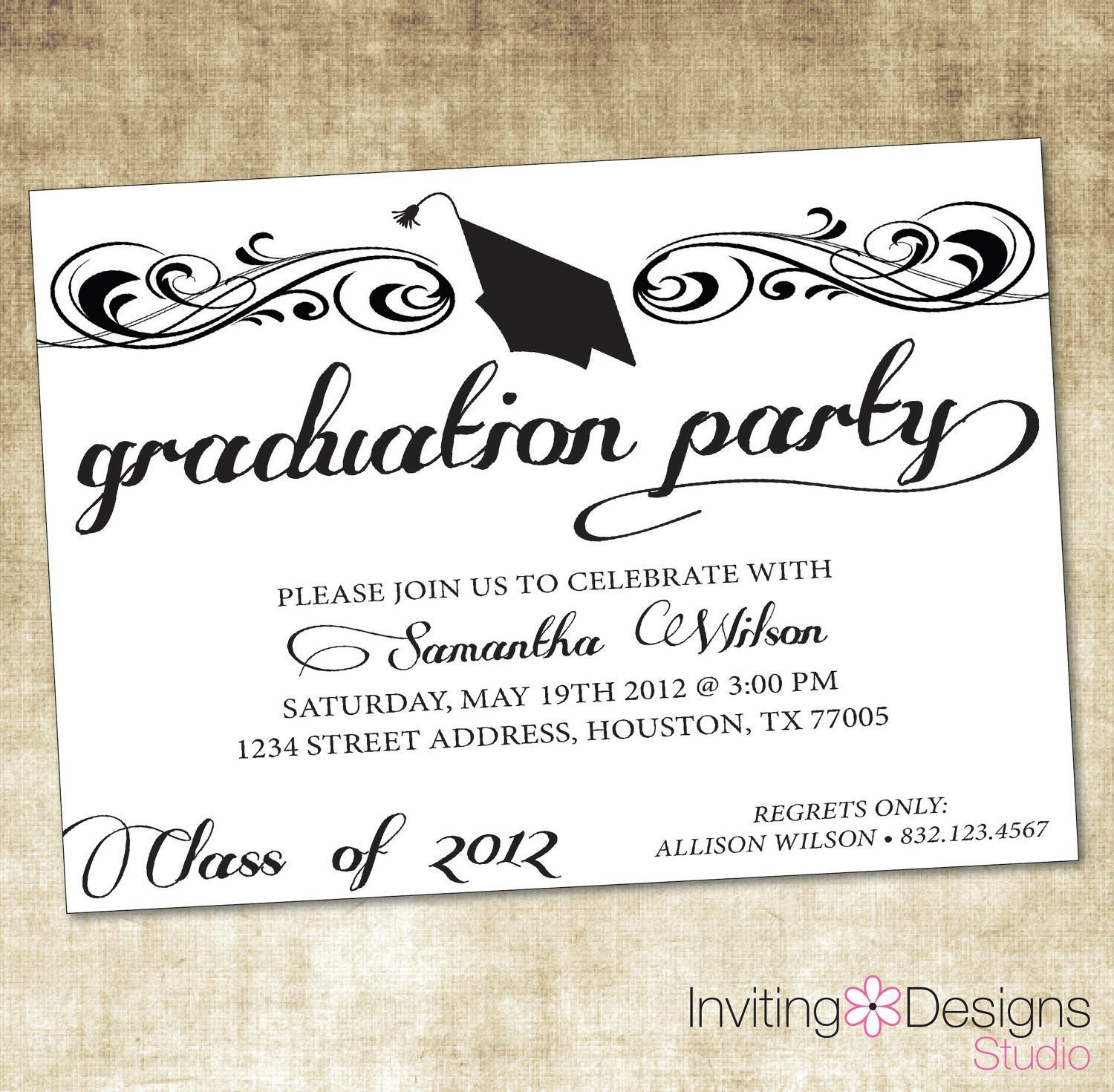 Graduation Party Invitation Template Free Graduation Invitation Templates Free Graduation