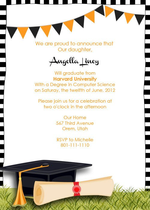 Graduation Party Invitation Template Graduation Party Invitation ← Wedding Invitation Templates