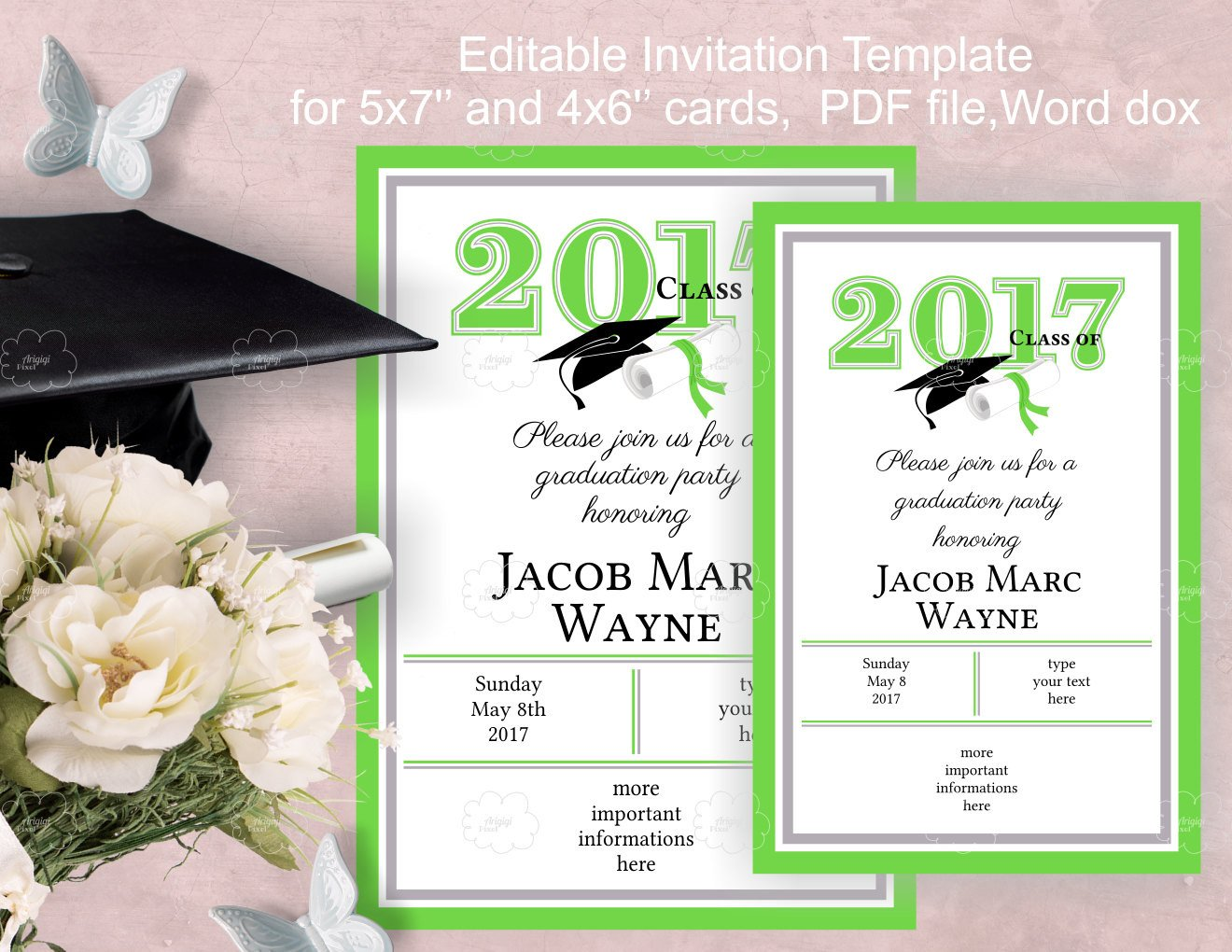 Graduation Party Invitation Template Graduation Party Invitation Template Edit Yourself