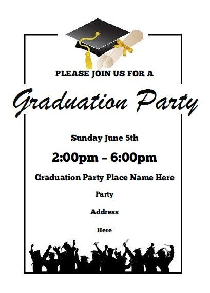 Graduation Party Invitation Template Graduation Party Invitations Free Printable