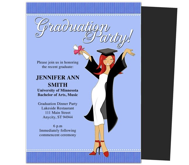Graduation Party Invitation Template Graduation Party Invitations Templates Mencement