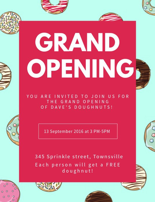 Grand Opening Flyer Template Free Create Grand Opening Flyers In Minutes