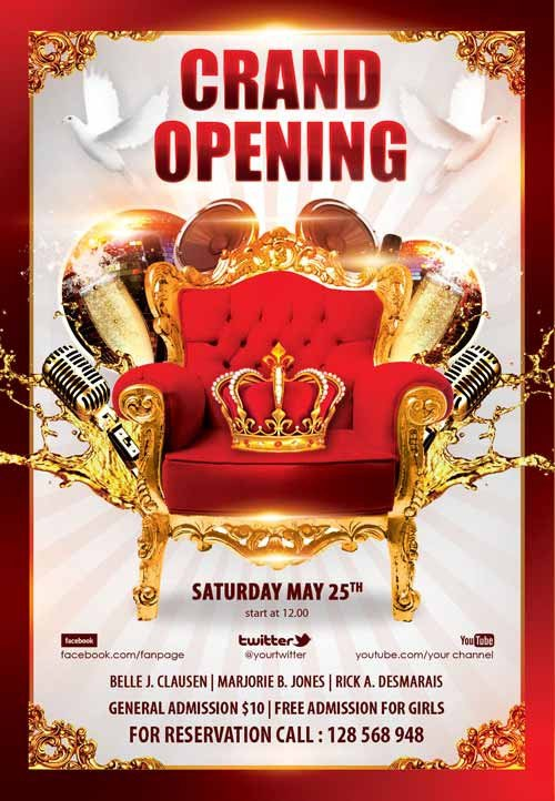 Download the Grand Opening Party Free Flyer Template