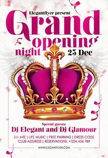 Grand Opening Flyer Template Free Free Grand Opening Night Flyer Template – by Elegantflyer