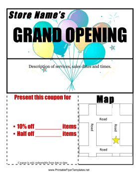 Grand Opening Flyer Template Free Grand Opening Flyer