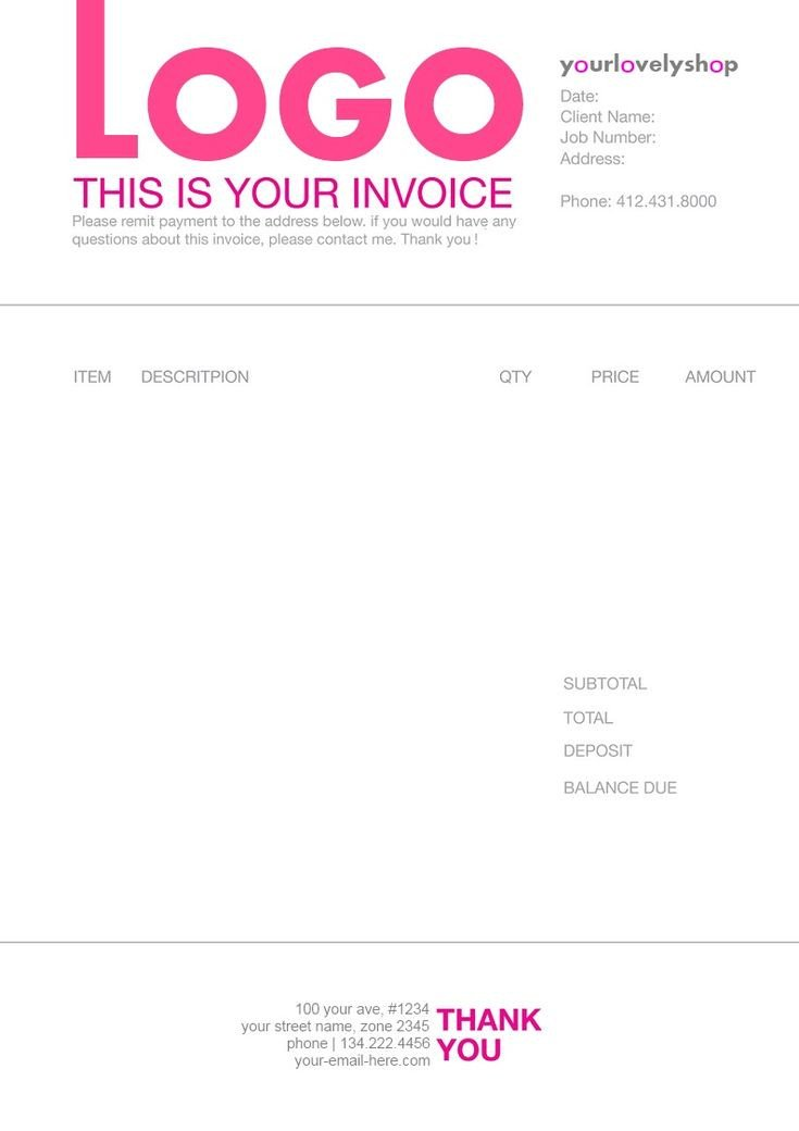 1000 images about Invoice Design on Pinterest