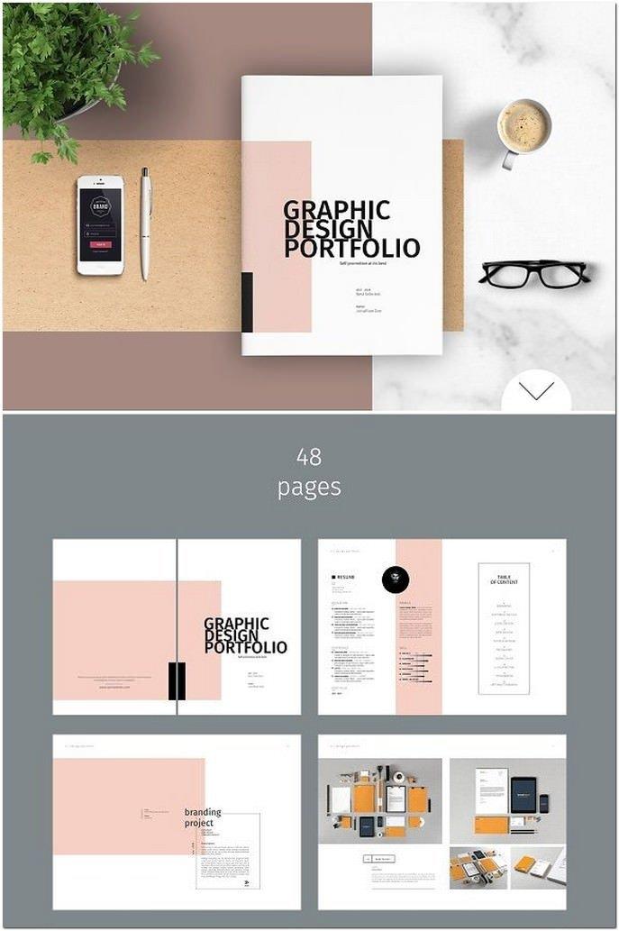 Graphic Design Portfolio Template 35 Modern Portfolio Brochure Templates 2018 Templatefor