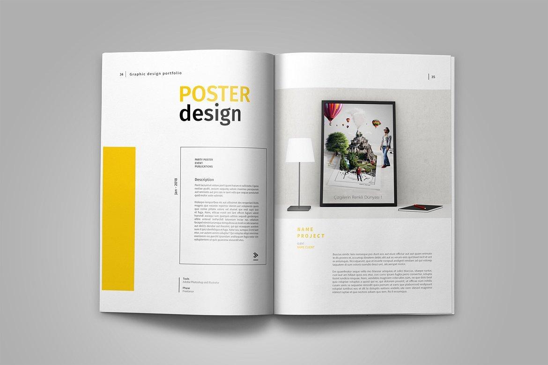 Graphic Design Portfolio Template Graphic Design Portfolio Template In Brochure Templates On
