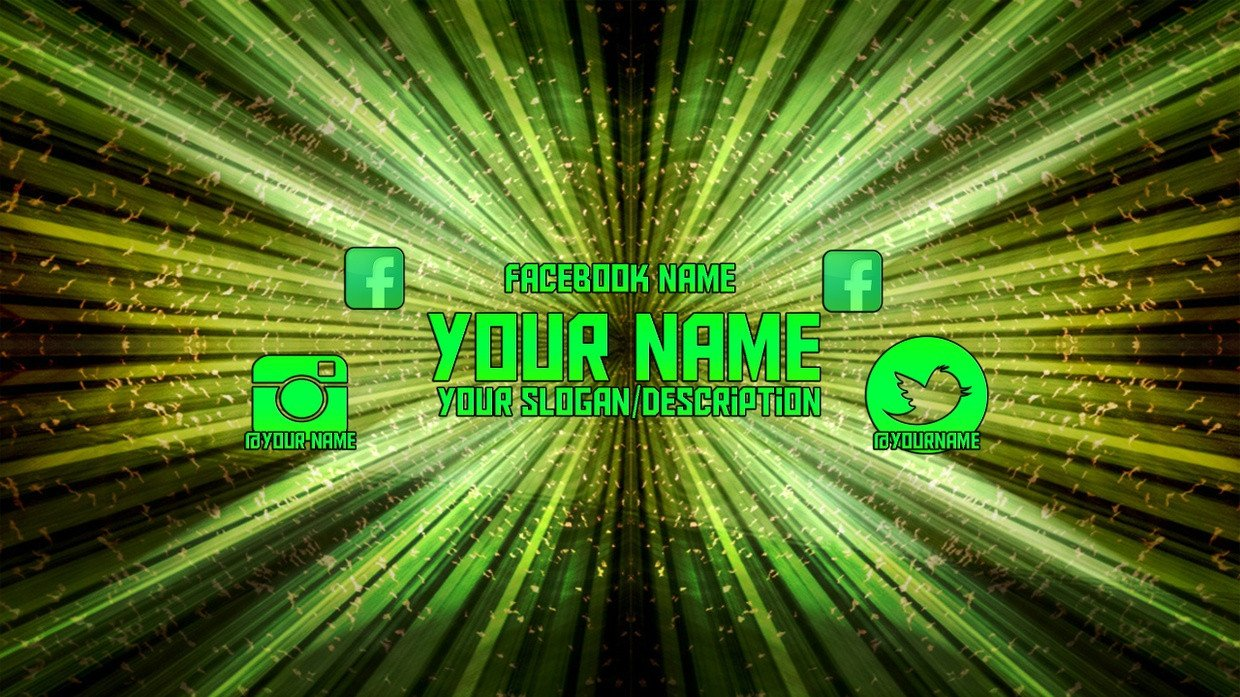 Green Channel Art Green Youtube Channel Art Template for Shop Cc 20