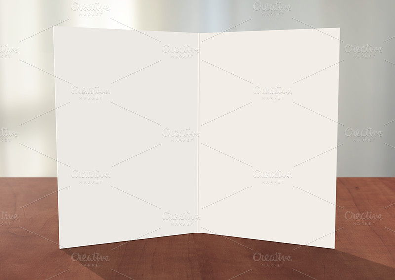 Greeting Card shop Mockup Card Templates on