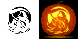 Grim Reaper Pumpkin Pattern Free Pumpkin Carving Stencils