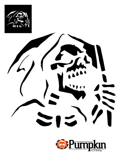 Grim Reaper Pumpkin Pattern Grimreaper 400×518 Pumpkin Carving