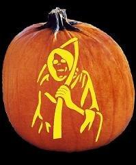 Grim Reaper Pumpkin Pattern Spookmaster Grim Reaper Pumpkin Carving Pattern Jack O