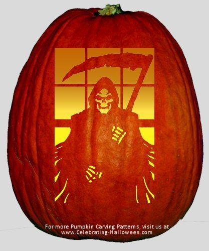 Grim Reaper Pumpkin Pattern the Grim Reaper Pumpkin Carving Pattern