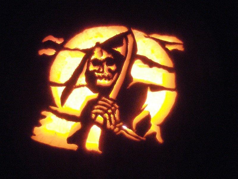 Grim Reaper Pumpkin Pattern Title