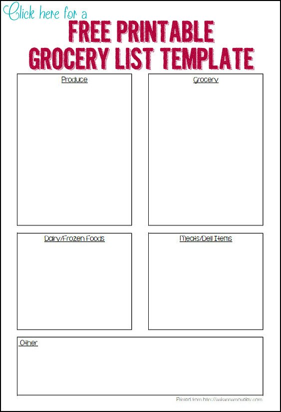 Grocery List Template Free organized Grocery List 3 Free Printable Templates ask Anna
