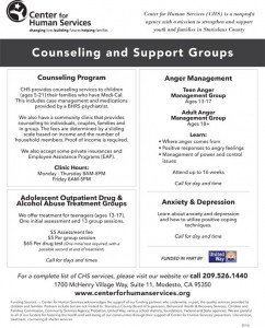 Group therapy Flyers Adult Group Counseling Services – Center for Human Services