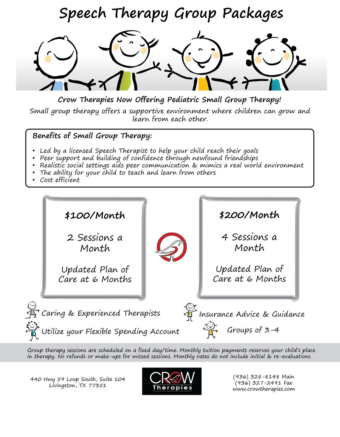 Group therapy Flyers Group Speech therapy