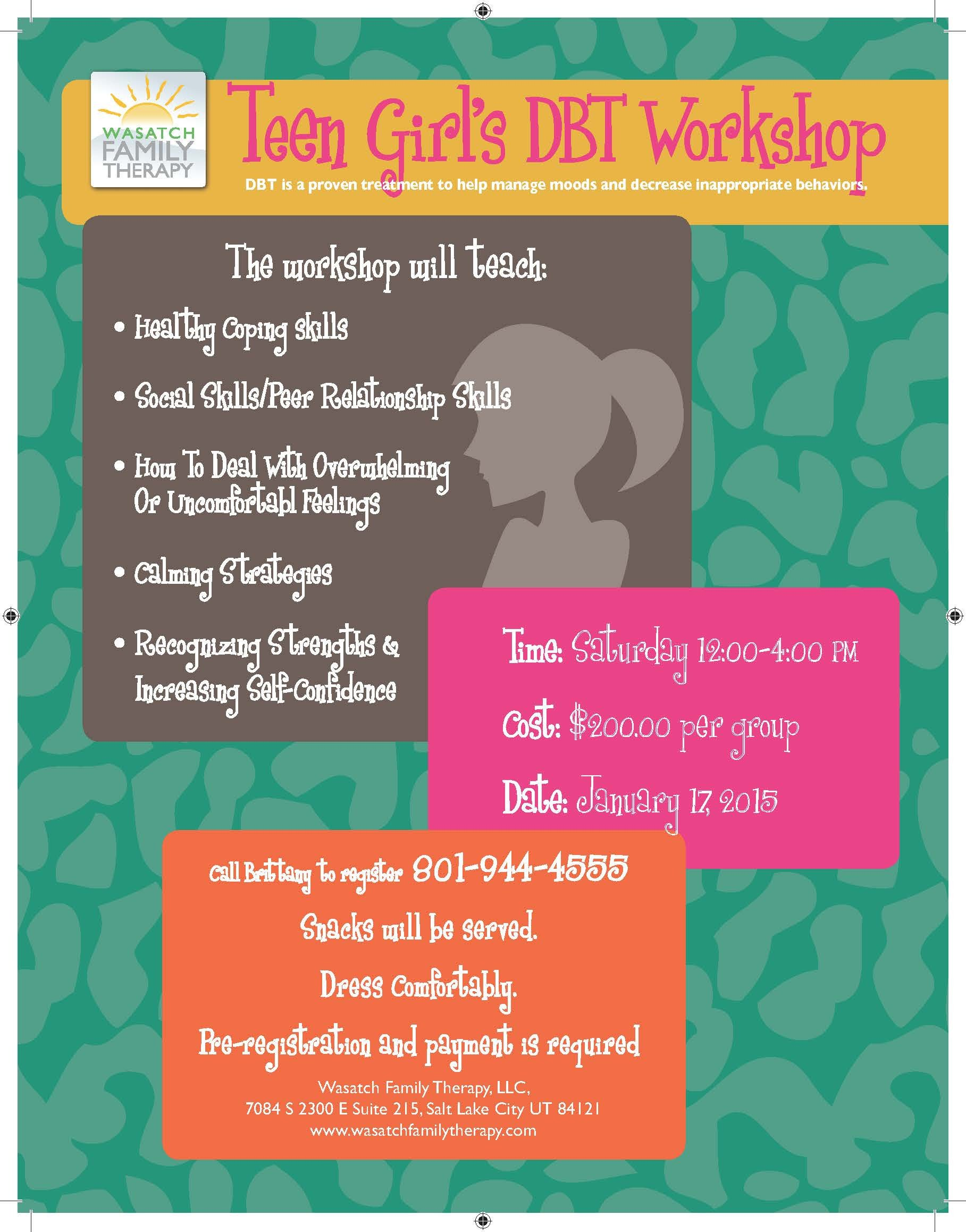 Group therapy Flyers Happyhour Healthyheart