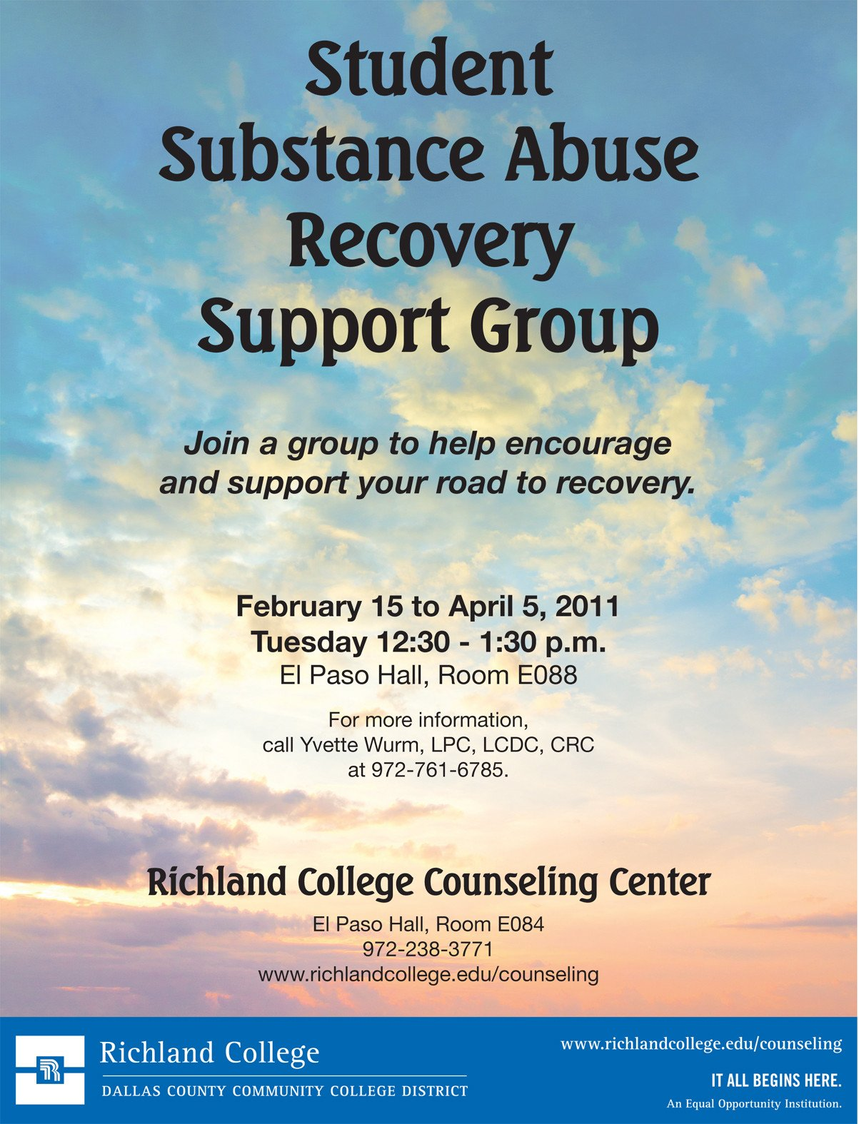 Group therapy Flyers Substance Abuse Support Group Flyer