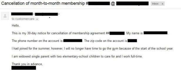Gym Membership Cancellation Letter Gym Membership Cancellation Here S How Easy It Can Be to