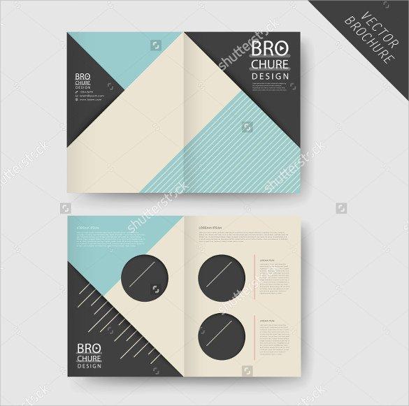 26 Half Fold Brochures 25 PSD Vector EPS