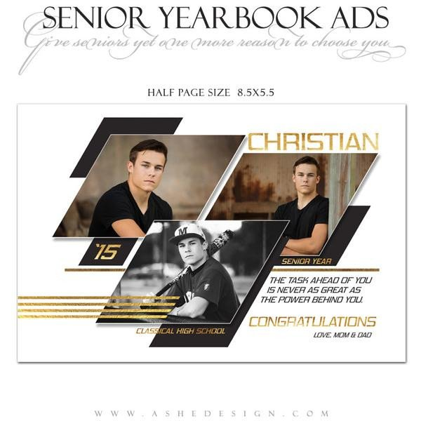 Half Page Advertisement Template Senior Yearbook Ads for Shop