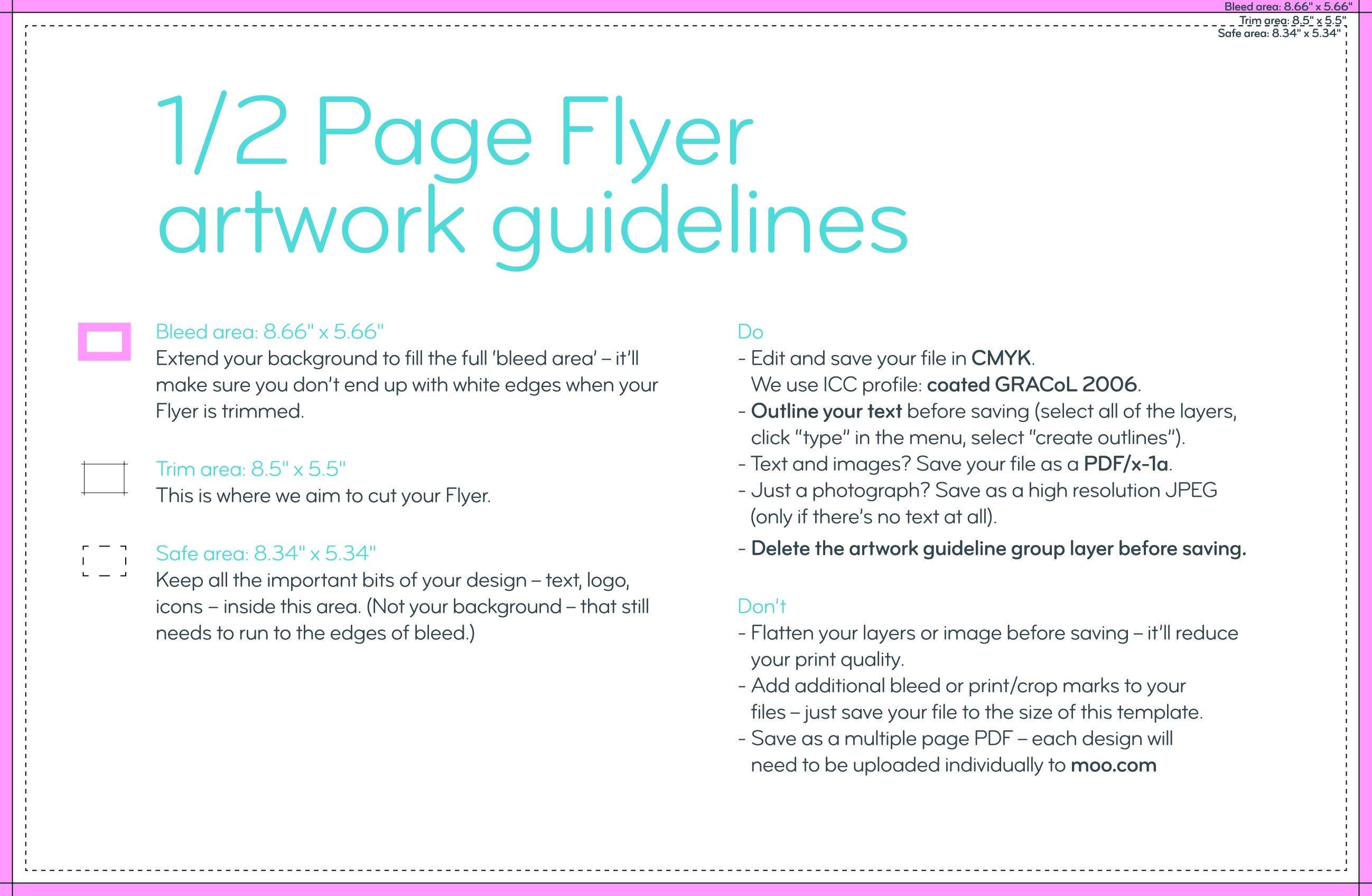 Half Sheet Flyer Template Flyers Templates – Moo
