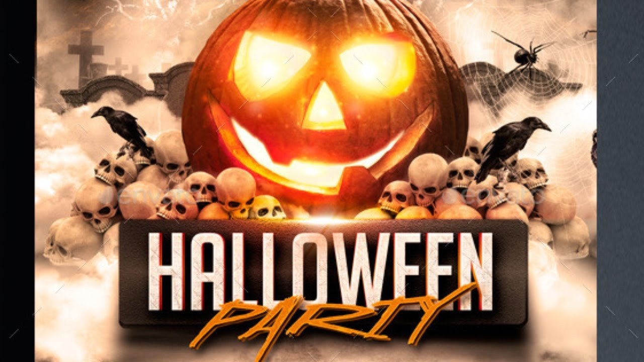 Halloween Party Flyer Template Free For Shope