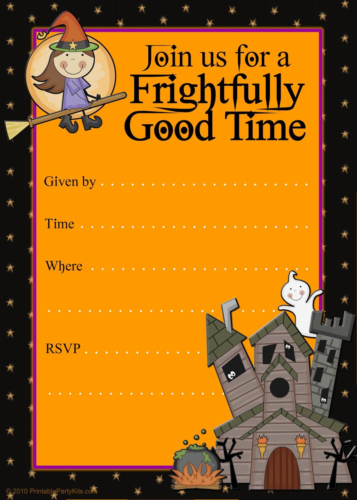 Halloween Party Invitation Template Free Printable Party Invitations Printable Good Witch