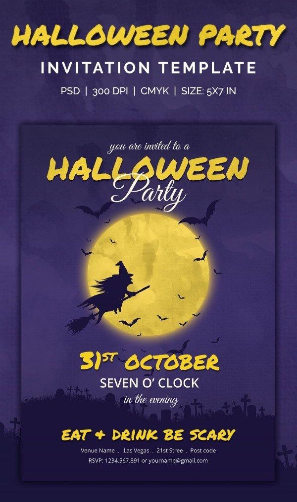 Halloween Party Invitation Templates 35 Halloween Invitation Free Psd Vector Eps Ai