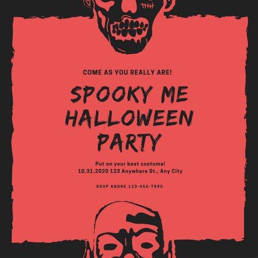Halloween Party Invitation Templates Customize 3 999 Halloween Party Invitation Templates