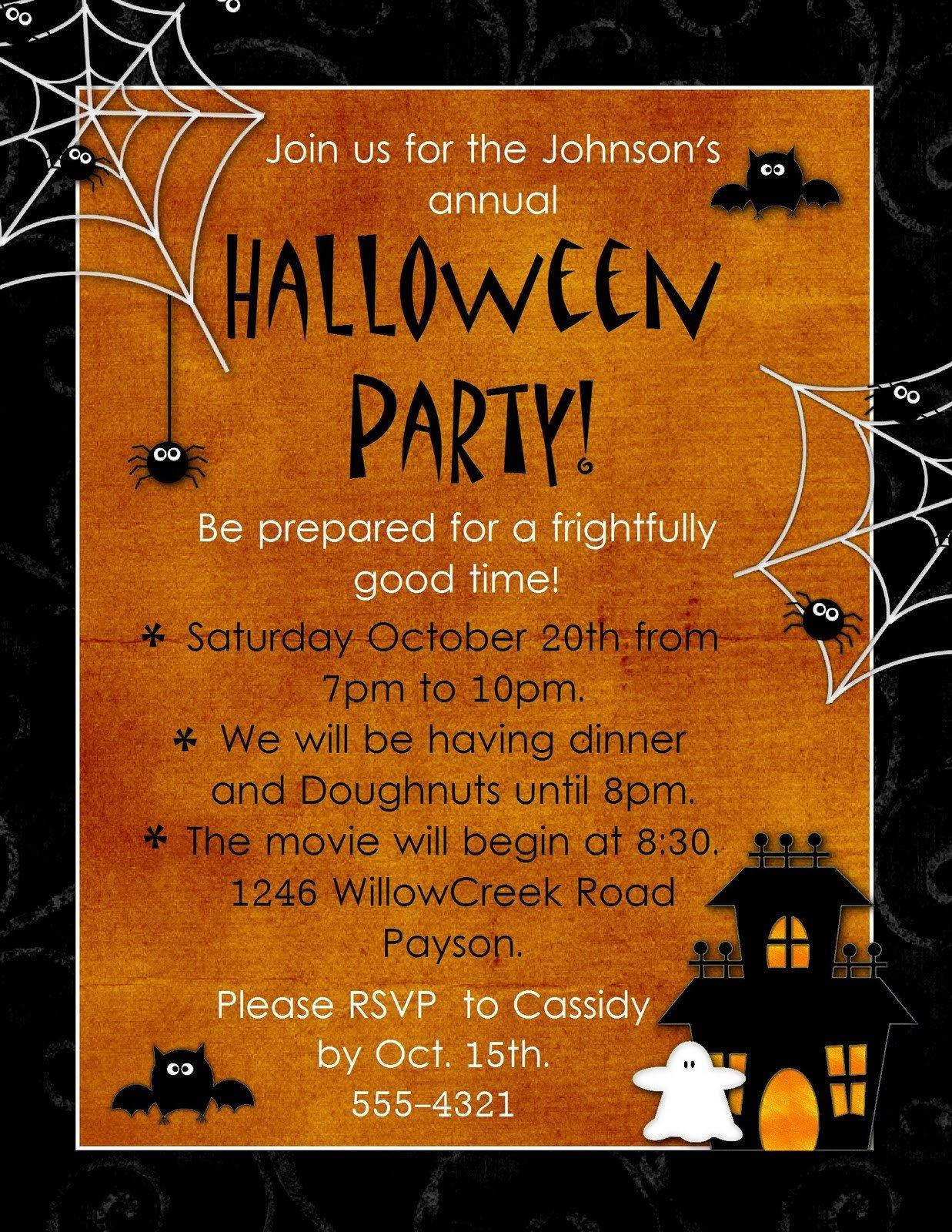 "Halloween Party Invitation Templates Geneawebinars ""preserving Those Fun Autumn Memories"""