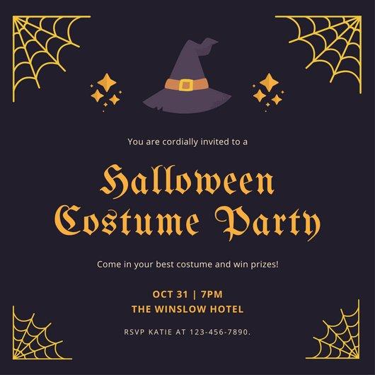 Halloween Party Invitation Templates Halloween Party Invitation Templates Canva