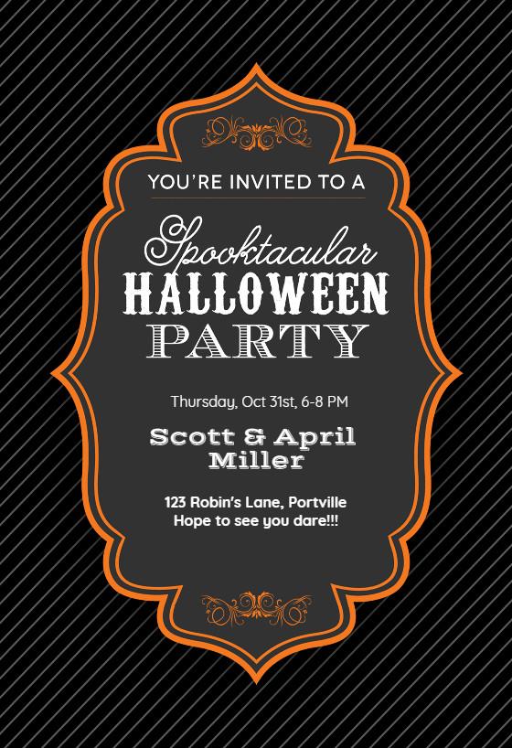 Halloween Party Invitation Templates Spooktacular Halloween Party Halloween Party Invitation