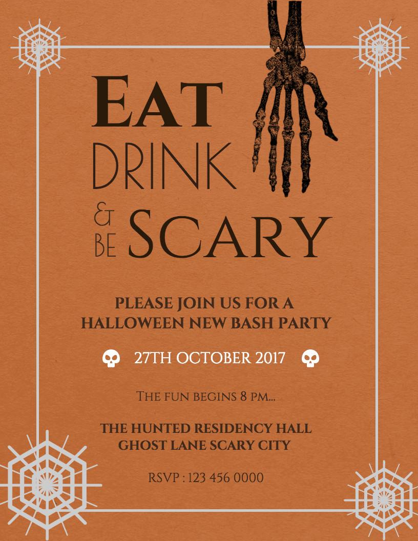 Halloween Templates for Word 7 Spooky Halloween Flyer Templates Venngage