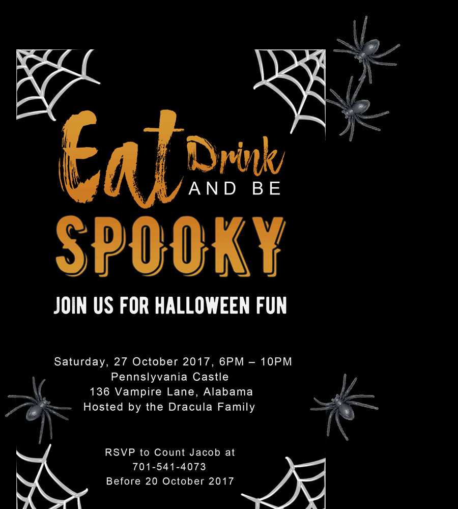 Halloween Templates for Word Free Printable Halloween Party Invitations 2018 [ Template]