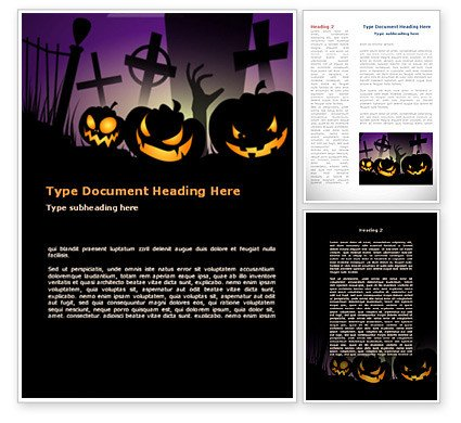 Halloween Templates for Word Free Violet Halloween Night Word Template