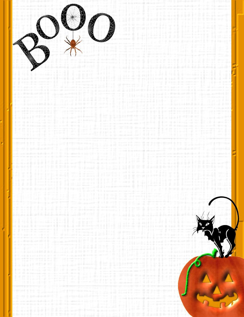 Halloween Templates for Word Halloween 1 Free Stationery Template Downloads