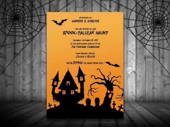 Halloween Templates for Word Halloween Haunt Party Invitation Haunted House Invitation