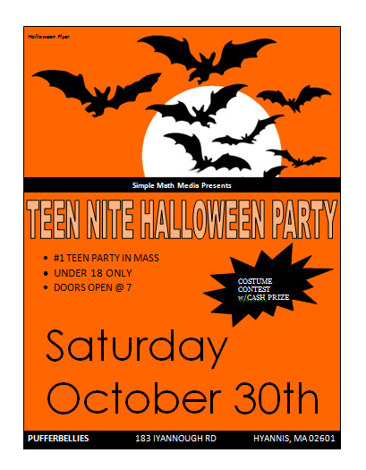 Halloween Templates for Word Halloween Party Flyer Template Microsoft Word Templates