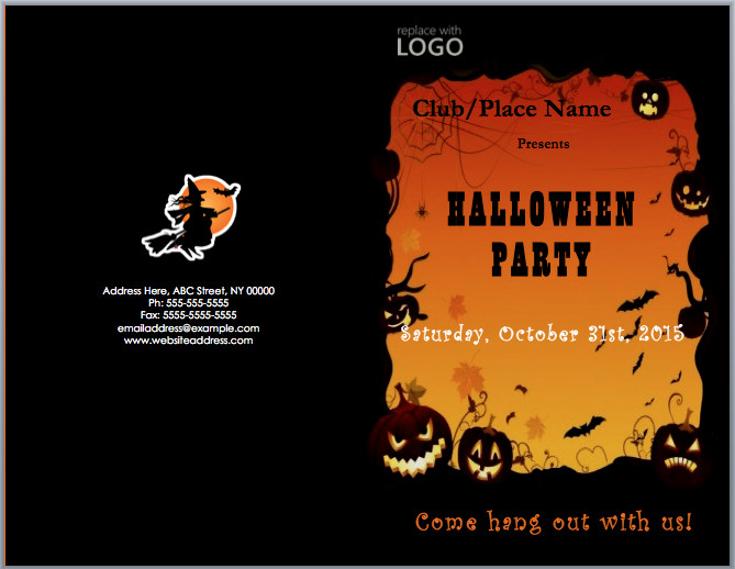 Halloween Templates for Word Halloween Party Invitation Template – Microsoft Word Templates