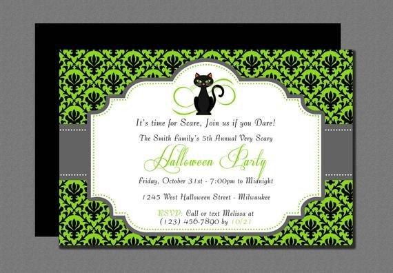 Halloween Templates for Word Very Scary Halloween Invitation Editable Template