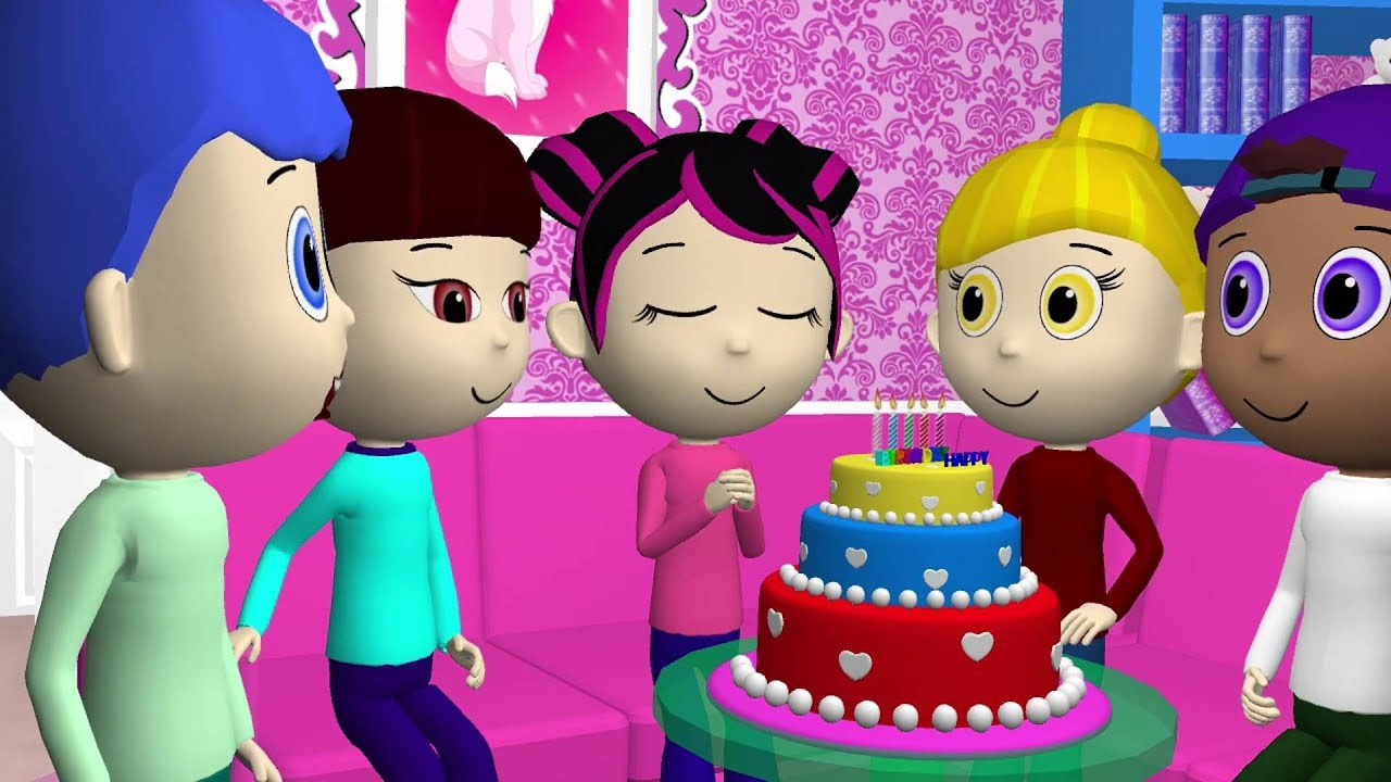 Happy Birthday 3d Images Happy Birthday 3d Animation songs Kids [voical]